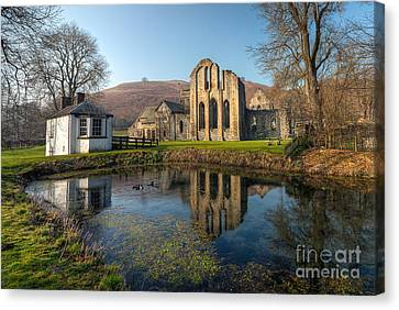 Duck Pond Canvas Print by Adrian Evans