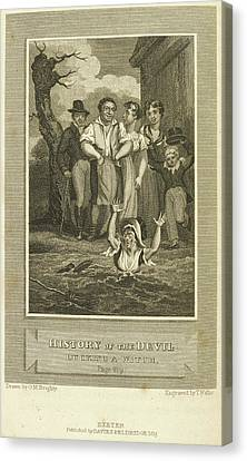 Ducking A Witch Canvas Print by British Library