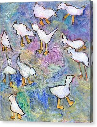 Ducks Canvas Print by Catherine Redmayne