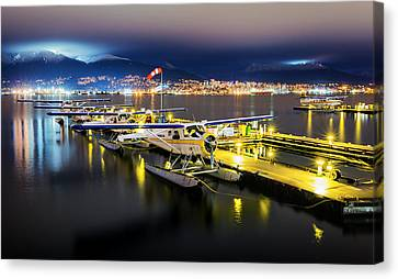 North Vancouver Canvas Print - Ducks In A Row by Alexis Birkill