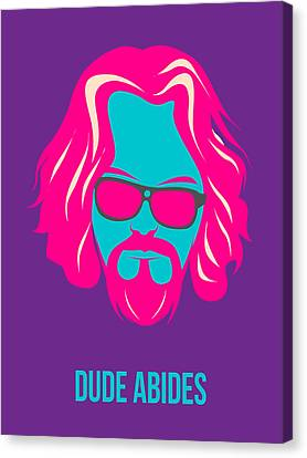 Dude Abides Purple Poster Canvas Print by Naxart Studio