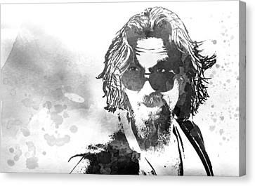Dude B W Canvas Print