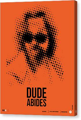 Dude Big Lebowski Poster Canvas Print by Naxart Studio