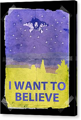 Dude I Want To Believe 14 Canvas Print by Filippo B