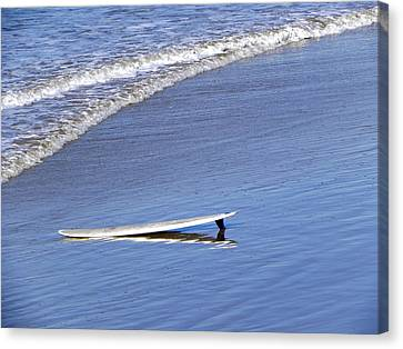 Canvas Print featuring the photograph Dude Where Is My Surfer by Kathy Churchman