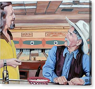 Canvas Print featuring the painting Dude You've Got Style by Tom Roderick