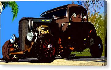 Duece Coupe Canvas Print by David Lee Thompson