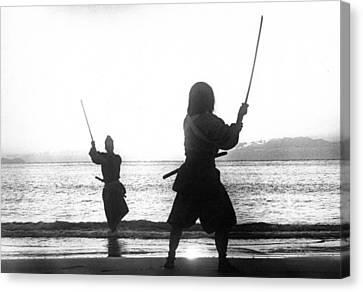Duel On Ganryu Island Canvas Print