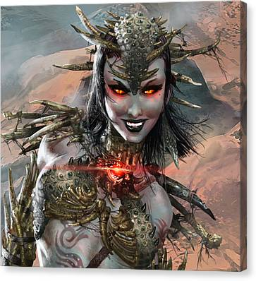 Duels Of The Planeswalkers 2014 Persona Ten Canvas Print by Ryan Barger