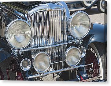 Automobile Canvas Print - Duesenberg Front Chrome Automobile Grille 2 by David Zanzinger