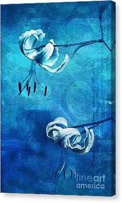 Duet - Blue03 Canvas Print by Variance Collections