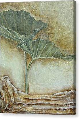 Canvas Print featuring the mixed media Duet In Green by Delona Seserman