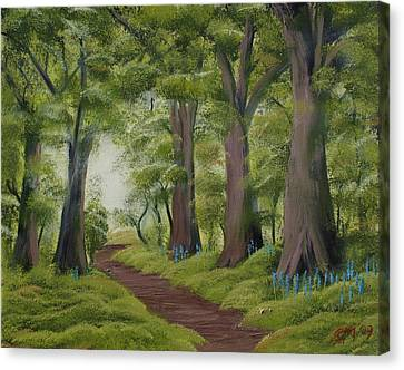Canvas Print featuring the painting Duff House Walk by Charles and Melisa Morrison