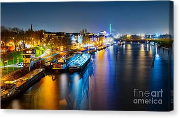 Duisburg Rhine East Bank Dammst Canvas Print by Daniel Heine