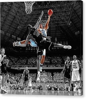 Duke And Unc Basketball Canvas Print by Brian Reaves