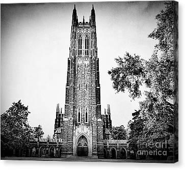 Duke Chapel In Black And White Canvas Print