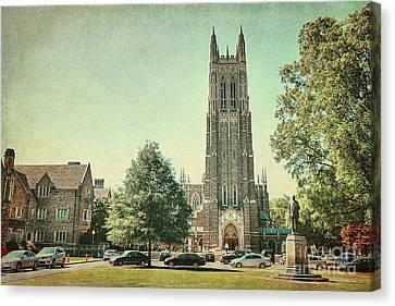 Duke Chapel In Spring Canvas Print