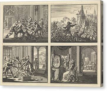 Duke Of Guise Murdered In The Castle At Blois, 1588 Canvas Print by Quint Lox
