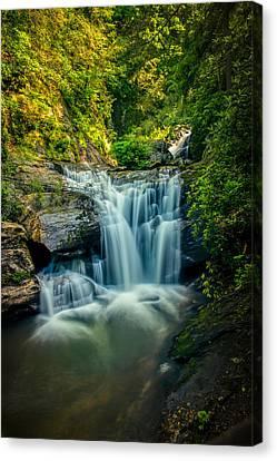 Dukes Creek Falls Canvas Print by John Haldane