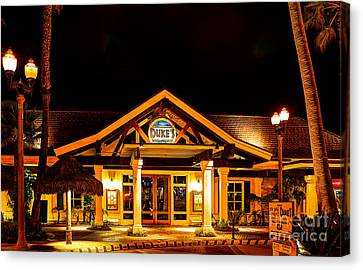 Pch Canvas Print - Duke's Restaurant Front - Huntington Beach by Jim Carrell