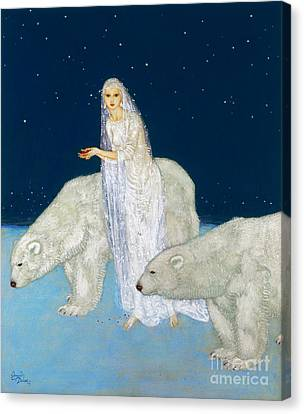 Dulac: The Ice Maiden, 1915 Canvas Print by Granger
