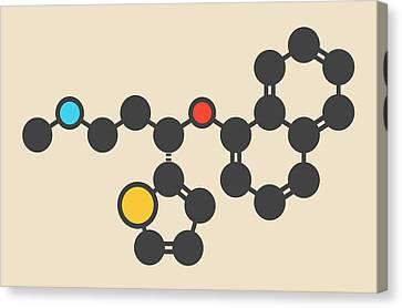Psychiatric Canvas Print - Duloxetine Antidepressant Drug Molecule by Molekuul