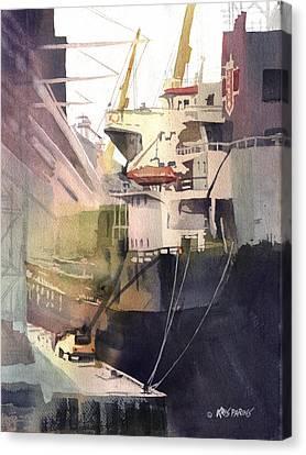 Duluth Harbor Canvas Print by Kris Parins