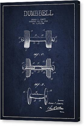 Dumbbell Patent Drawing From 1927 Canvas Print