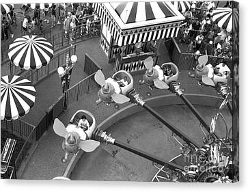 Amusements Canvas Print - Dumbo Ride Disney World Circa 1995 by Edward Fielding