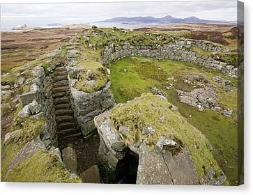 Dun Beag Broch On The Isle Of Skye Canvas Print by Ashley Cooper