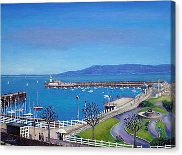 Dun Laoghaire Pier Dublin Canvas Print