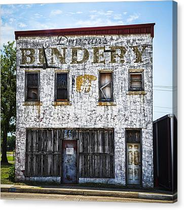 Duncan Bindery Building Front Canvas Print