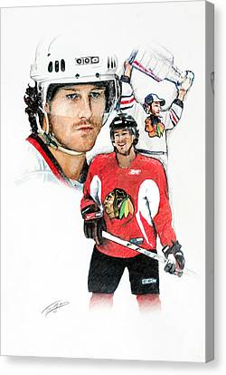 Duncan Keith Canvas Print by Jerry Tibstra