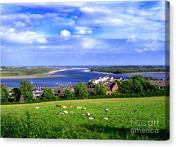 Dundrum Bay Irish Coastal Scene Canvas Print by Nina Ficur Feenan