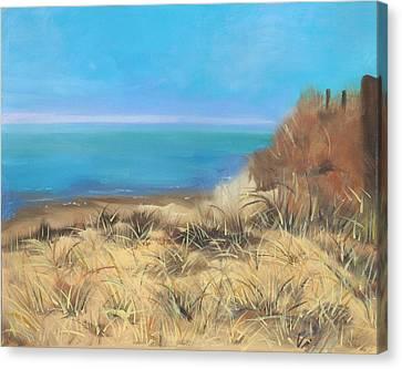 Dunes Along Cape Cod Bay Canvas Print by Viola Holmgren