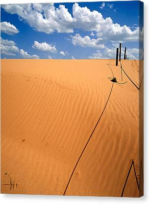 Dunes And Clouds Canvas Print