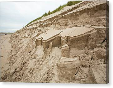 Dunes Collapsing Canvas Print by Ashley Cooper