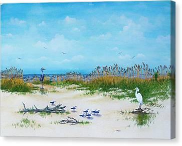 Dunes Denizens Canvas Print