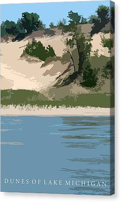 Dunes Of Lake Michigan Canvas Print by Michelle Calkins
