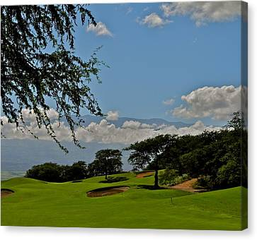 Dunes Of Maui Lani 14th Fairway Canvas Print by Kirsten Giving