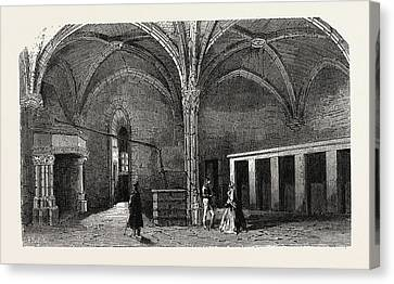 Dungeon Of Vincennes Hall Of Cardinals Canvas Print