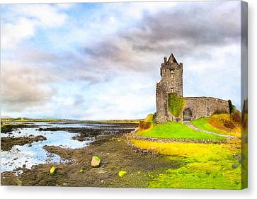 Dunguaire Castle In County Galway Ireland Canvas Print by Mark E Tisdale