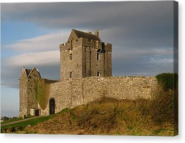 Canvas Print featuring the photograph Dunguire Castle by Kathleen Scanlan