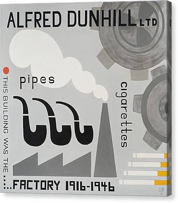 Dunhill Factory Canvas Print by Carolyn Hubbard-Ford