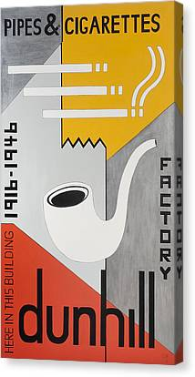 Dunhill Pipes & Cigarettes, 2013 Acrylic On Canvas Canvas Print by Carolyn Hubbard-Ford