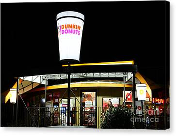 Dunkin Donuts Canvas Print by Paul Ward
