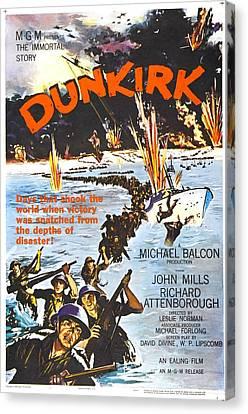 Dunkirk, Us Poster, John Mills Front Canvas Print by Everett