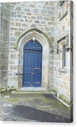 Dunlop Kirk Arched Doorway Canvas Print by James Potts