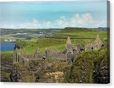Mystical Landscape Canvas Print - Dunluce Afternoon Ireland by Betsy Knapp