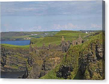 Dunluce Castle Ireland Canvas Print by Betsy Knapp